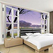 Shuangklei Lila Rahmen FensterLandschaft 3D