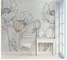 Shuangklei Skizze Blume Tapete 3D Wandbilder