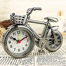 Shuangklei Wecker Vintage Fahrrad Mit Korb Quarz