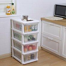 Shubiao Boden Multilayer Kunststoff Regal Haushalt Regale Obst und Gemüse Lagerregal Multi Kinetic Energy Storage Basket (Design : 4 layer)