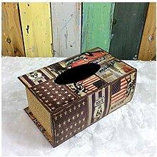 SHUCHANGLE Tissue Box Holder Retro Kreativ Holz
