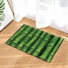 SHUHUI Grüner Bambus-Teppich,saugfähige Küche
