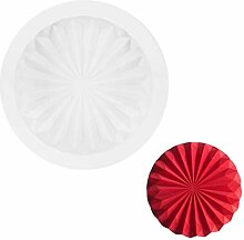 SHUHUI Silikon Kuchenform Wellenförmige Runde