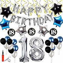 SHUIBIAN 18 Geburtstag Dekoration Silber und