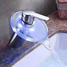 SHUILT 3-Loch-Armatur Einhand Ein Loch in Chrom Waschbecken Wasserhahn