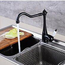 SHUILT Mittellage Einhand Ein Loch for Öl-riebe Bronze , Armatur für die Küche
