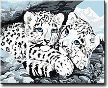 Shukqueen DIY Erwachsenen Öl-Gemälde, Malen nach