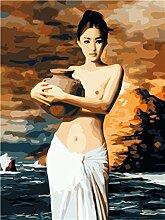shukqueen-Öl-Gemälde, Malen nach Zahlen-Set,
