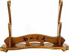 SHULI Schwerthalter Massivholz Samurai Schwert