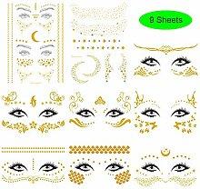 Shuxy Face Temporäres Tattoo Sticker