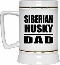 Siberian Husky Dad - Beer Stein Bierkrug Keramik