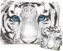 Sibirischer weißer Tiger Zwillings