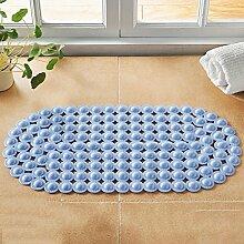 Sicherheits- und Umweltschutzmaterial - Geschmackloser PVC-Rutschfester Teppich mit Sauger-Massage-Fußauflage-Toiletten-Auflage - mit Saugnäpfen Badmatten (Farbe : Blue, Größe : A)