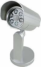Sicherheitslampe Wandlampe Kunststoff silber 6LED