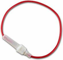 Sicherungshalter für 6,35x30mm mit Kabel, max. 5A