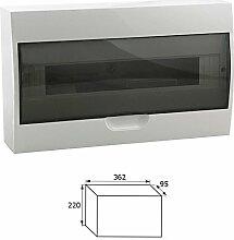 Sicherungskasten Kleinverteiler IP40 aufputz Unterverteilung 1-2 reihig 4,6,8,12,18,24,36 Module (18 Module / 1-reihig)