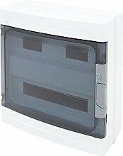 Sicherungskasten Verteilerkasten Kleinverteiler Unterverteilung Aufputz IP55 38 Module 2-reihig NEU