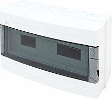 Sicherungskasten Verteilerkasten Kleinverteiler Unterverteilung Aufputz IP55 19 Module 1-reihig NEU