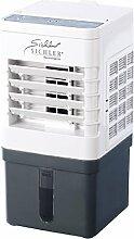 Sichler Haushaltsgeräte Luftkühler Klimageräte: Kompakter Mini-Akku-Luftkühler mit Wasserkühlung, 9 Watt, 40 ml/Std. (Luftkühler mit Wasserverdunster)