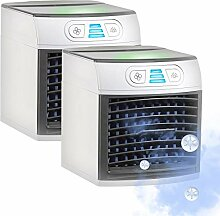 Sichler Haushaltsgeräte Mini Klimaanlage: 2er-Set