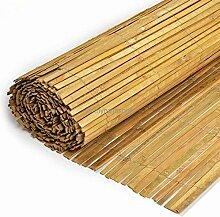 Sichtschutz - Bambusmatte Bambus flach gespalten