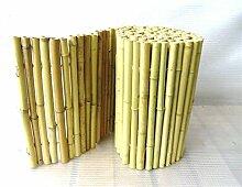 Sichtschutz - Bambusmatte Weiß heller Bambus