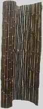 Sichtschutz - Bambuszaun Schwarz Dunkelbraun Bambus Gartenzaun 100x180cm