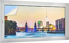 Sichtschutz Berliner Skyline B x H: 80cm x 40cm von Klebefieber®
