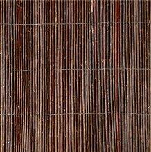 Sichtschutz / Gartenzaun aus Weidenholz, aufgerollt, Maße: 5 x 1,5 m