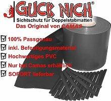 Sichtschutz Guch Nich für Doppelstabmatten, Blickdicht, Zaun, Zäune, Gartenzaun 65m RAL 7016/anthrazit grau