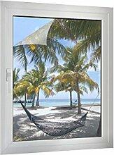Sichtschutz Hängematte am Strand B x H: 45cm x 60cm von Klebefieber®