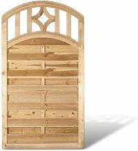 """Sichtschutz Holz Holzzaunelemente mit Bogen + Rankgitter im Maß 100 x 180 auf 160 cm (Breite x Höhe) aus Kiefer / Fichte, druckimprägniert """"Köln Bogen"""
