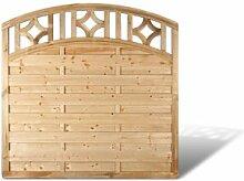 """Sichtschutz Holz Zaunelemente mit Bogen + Rankgitter im Maß 150 x 180 auf 160 cm (Breite x Höhe) aus Kiefer / Fichte, druckimprägniert """"Köln Bogen"""