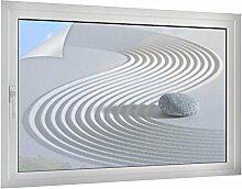 Sichtschutz Japan Zen Garten B x H: 120cm x 80cm von Klebefieber®