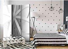 Sichtschutz mit geometrischem Muster 135 cm breit