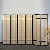Sichtschutz Paravent in Schwarz Bambus 6 teilig