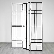 Sichtschutz Paravent in Schwarz Weiß