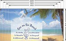 Sichtschutz Sichtschutzfolie für Küche Rezept für Sex on the Beach Cocktail (90x57cm)