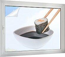 Sichtschutz Sushi mit Sojasauce B x H: 40cm x 30cm von Klebefieber®