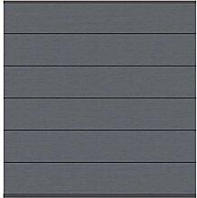 Sichtschutz System XL WPC anthrazit 178x183cm, Set mit Leisten anthrazit - Sichtschutzzäune Sichtschutzwand Gartensichtschutz Balkonsichtschutz Winschutz Sichtschutzwand für Garten und Terasse Blickschutz für Balkon Sichtschutzwände Sichtschutzwände, WPC Sichtschutz aus Kunststoff pflegeleich