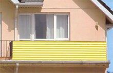 Sichtschutz Windschutz Balkonsichtschutz Balkonschutz Balkonwindschutz gelb/weiß