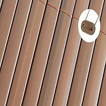 Sichtschutz Windschutz PVC (1,0m x 3m, makassar)