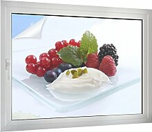 Sichtschutz Yoghurt mit Früchten B x H: 80cm x 60cm von Klebefieber®