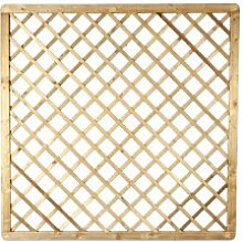 """Sichtschutz Zaun mit Rankhilfe im Maß 180 x 180 cm (Breite x Höhe) aus Kiefer / Fichte Holz, druckimprägniert """"Bremen Rankgitter"""