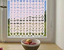 Sichtschutzfolie Fensterbild No.1059 Grob Gestrickt II Muster Schnörkel Struktur Spitze selbstklebend Milchglasfolie 5 Farben Fensterfolie Klebefolie Glasdekorfolie Sichtschutz Blickschutz Milchglas Fenster Bad   Glasdekorfolie selbstkleb Farbe: Frosted; Größe: 95cm x 95cm