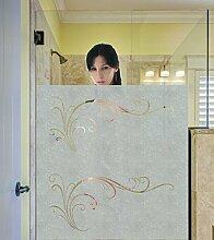 Sichtschutzfolie Fiore Dusche Bad Fenster blickdichte Milchglasfolie Glasdekor 120 cm