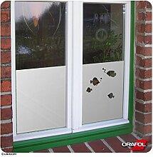 Sichtschutzfolie Sonnenschutz Fensterbild Glasdekorfolie Fische satiniert ORAFOL® + kostenlose Maßanfertigung (siehe 2. Produktbild)