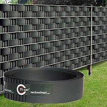 Sichtschutzstreifen Hart - PVC ✔ 2,52m x 9,5cm ✔ anthrazit ✔ 1 Streifen ✔ - SIE KAUFEN HIER DIREKT BEIM HERSTELLER -