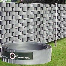 Sichtschutzstreifen Hart - PVC ✔ 2,52m x 9,5cm ✔ lichtgrau ✔ 1 Streifen ✔ - SIE KAUFEN HIER DIREKT BEIM HERSTELLER -