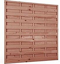 Sichtschutzzaun | Holz | 180x180x3,5x4,5 | Dichtzaun Holzzaun Gartenzaun Garten Zaun Windschutz | Kiefer | Massiv | Braun | Druckimpregniert | Wooder